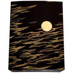 Box with Layered Clouds and Full Moon
