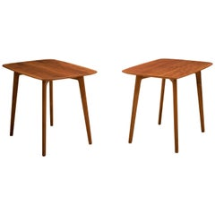 Mid Century Pair of End Tables by DUX