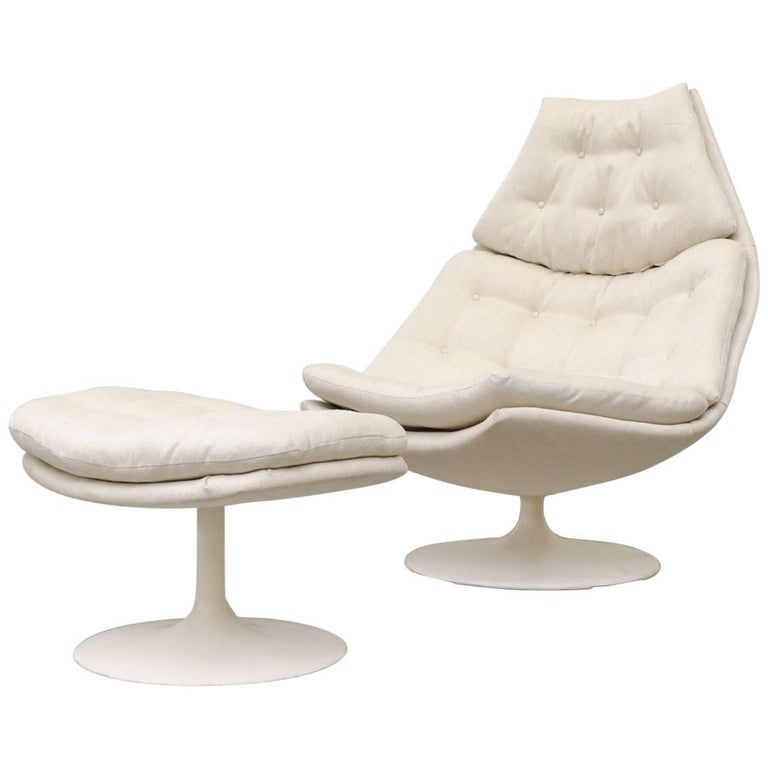 Geoffrey Harcourt F588 Lounge Chair for Artifort with Ottoman For Sale