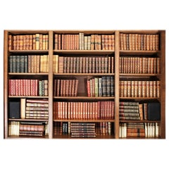 Very Large Collection of Antiquarian Leather Bound Books