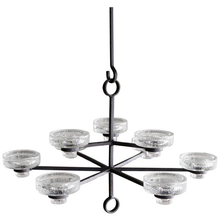 Candle Chandelier by Erik Hoglund for Boda Nova