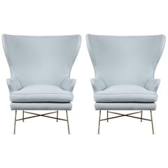 Pair of Highland Wingback Chairs by Lawson-Fenning