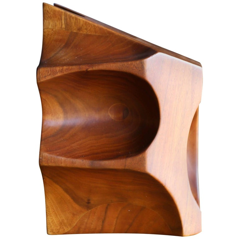 Solid Walnut Wood Abstract Sculpture