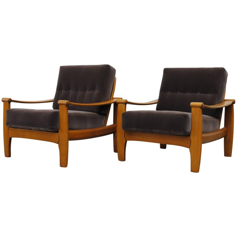 Pair of Danish Mid-Century Lounge Chairs For Sale