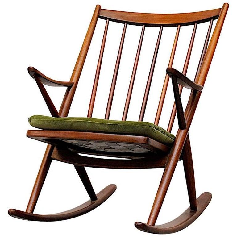 Frank Reenskaug for Bramin Møbler Danish Rocking Chair For Sale