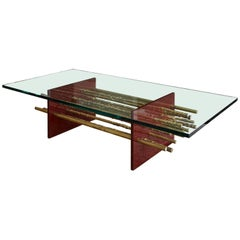 Pierce Oxblood Coffee Table