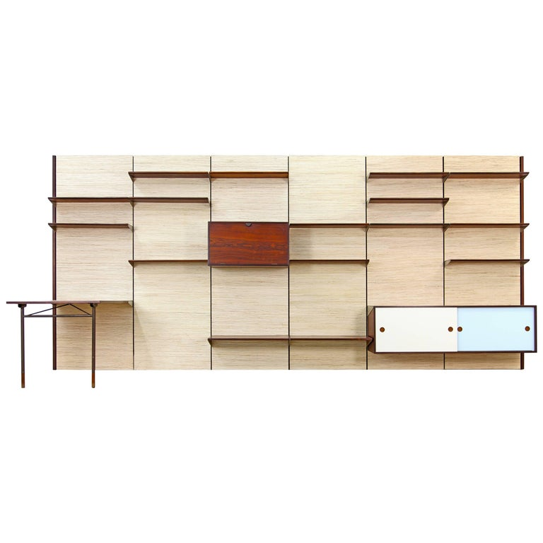 Huge Wall Unit by Finn Juhl for Bovirke, 1950s
