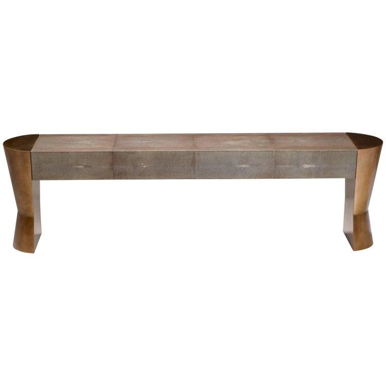 Shagreen AMOS II Bench by Philippe Hurel