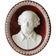 Creamware Portrait of Shakespeare, Wedgwood, circa 1785