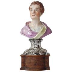 Bust of Sir Isaac Newton, Pearlware, Ralph & Enoch Wood, circa 1790