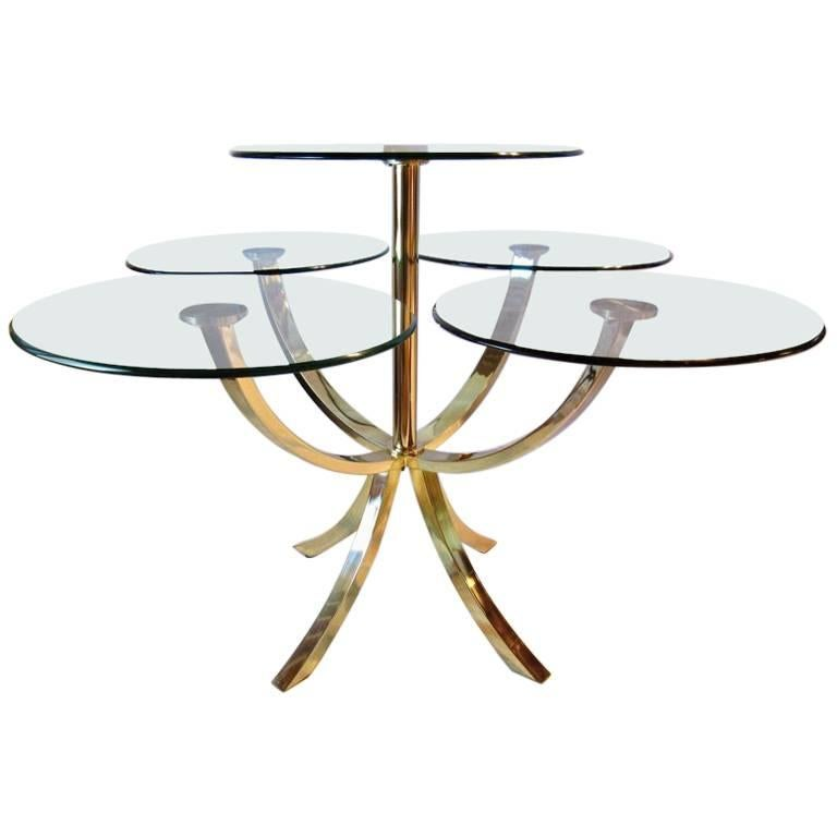 DIA, Design Institute of America Circle of Life Brass Dining Table 1970s For Sale