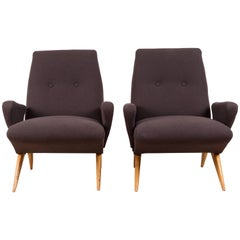 Pair of Italian Armchairs by Nino Zoncada