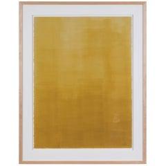 Mustard Gradient Monoprint #19 by Anna Ullman