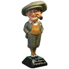 "Rare ""Penfold Man"" Papier Mâché Advertising Figure, circa 1930"
