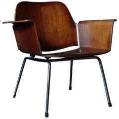 "Vintage ""Ply Chair"" Walnut by Saburo Inui for Tendo Mokko"