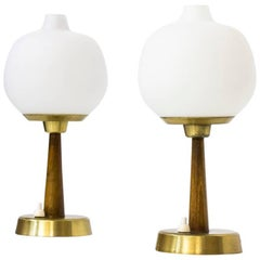 Pair of Table Lamps by Hans Bergström for Ateljé Lyktan, Sweden, 1950s