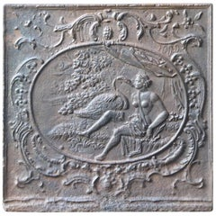 18th Century French 'Zeus and Leda' Fireback
