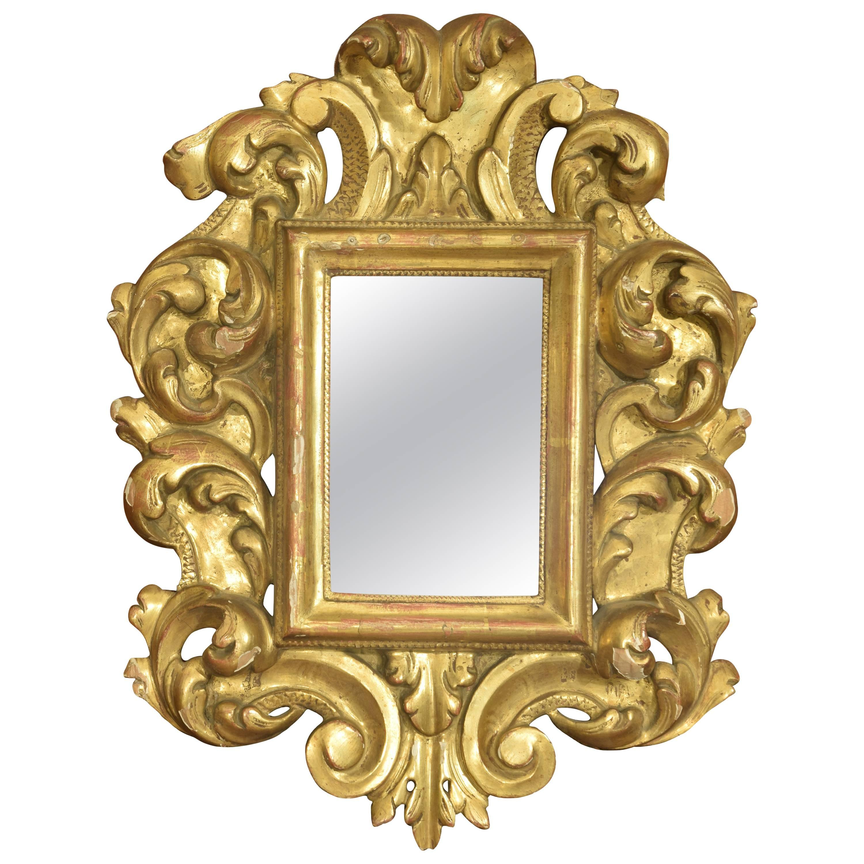 Art Nouveau Mirror in Marble Powder For Sale at 1stdibs