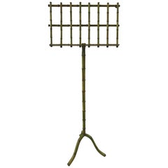 Grassy Green Faux Bamboo Music Stand