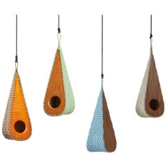 Gotinha Brazilian Contemporary Wood Outdoor Birdhouse by Lattoog