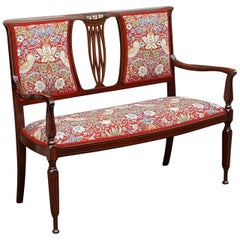 Arts & Crafts Mahogany Two-Seat Settee