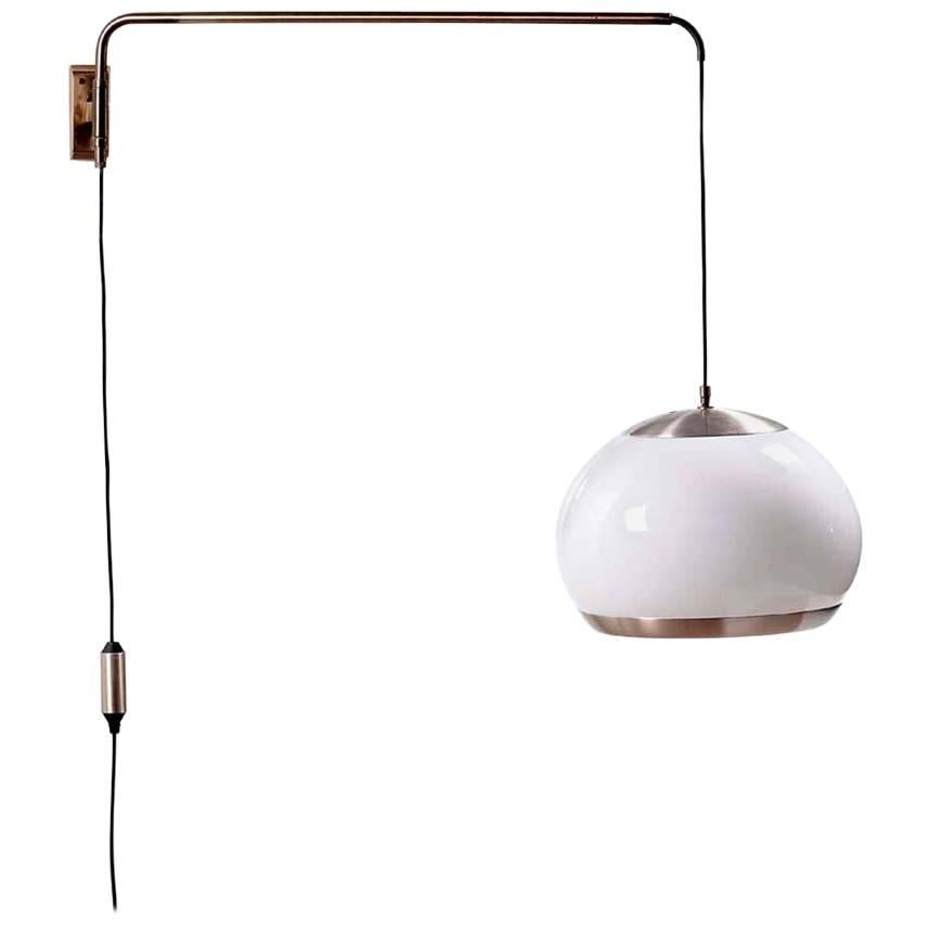 1960s by Stilux Italian Design Counterweight Wall Lamp