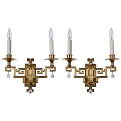 Sterling Bronze Sconces, circa 1910