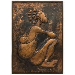 Tshibanda Bondo, African Art, Relief in Brass