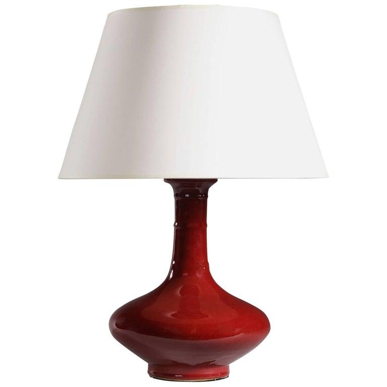 Fine Sang de Boeuf Lamp