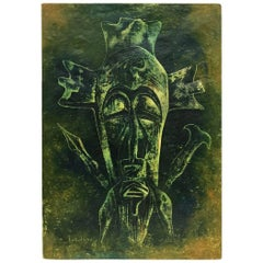 Luzolano, 1978 Oil Painting African Art