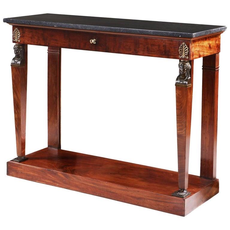 Fine Mahogany Empire Console Table