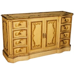 Italian Sideboard in Lacquered and Giltwood from 20th Century