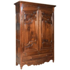 """Provenzal"" Louis XV Wardrobe, Walnut and Oak, France, 18th Century"
