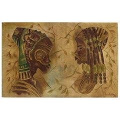 Luzolano 1978, Oil Painting, African Art