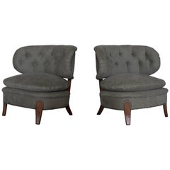 Pair of Otto Schulz Easy Chairs for Boet, Sweden, 1940s