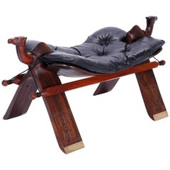 Anglo-Indian Rosewood Camel Foot Stool