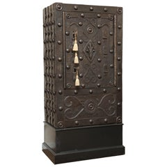 Huge Four Key Hobnail Safe Bologna, Italy, circa 1650s-1690s
