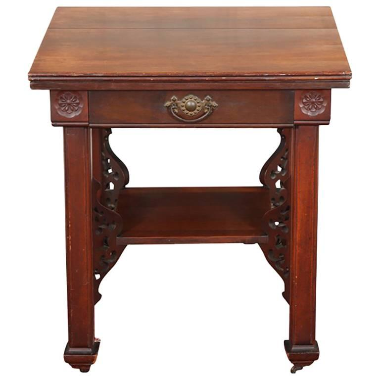 Antique Mahogany Two-Tiered Parlour Table, circa 1890