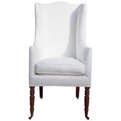 American Mahogany Sheraton Upholstered Coachman's Chair, Circa 1810