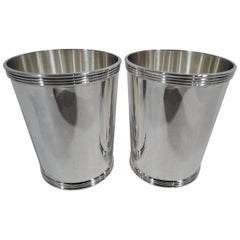 Pair of Frank Whiting Old Kentucky Sterling Silver Mint Julep Cups