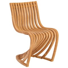Pantosh Brazilian Contemporary Wood Chair by Lattoog