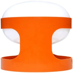 """KD27"" Joe Colombo by Kartell 1960s Italian Design Orange Table Lamp"