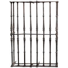 Wrought Iron Grille, Spain, 17th Century