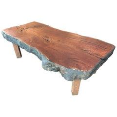 Huge Coffee Table or Display Table in Eucalyptus Wood