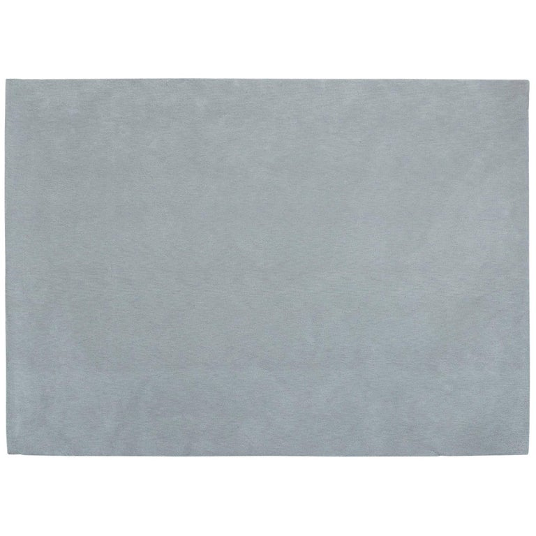 'Gris Pinton' Hand-Tufted Area Rug in Grey by Pinton For Sale