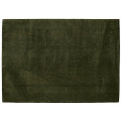 'Vert Pinton' Hand-Tufted Area Rug in Olive Green by Pinton