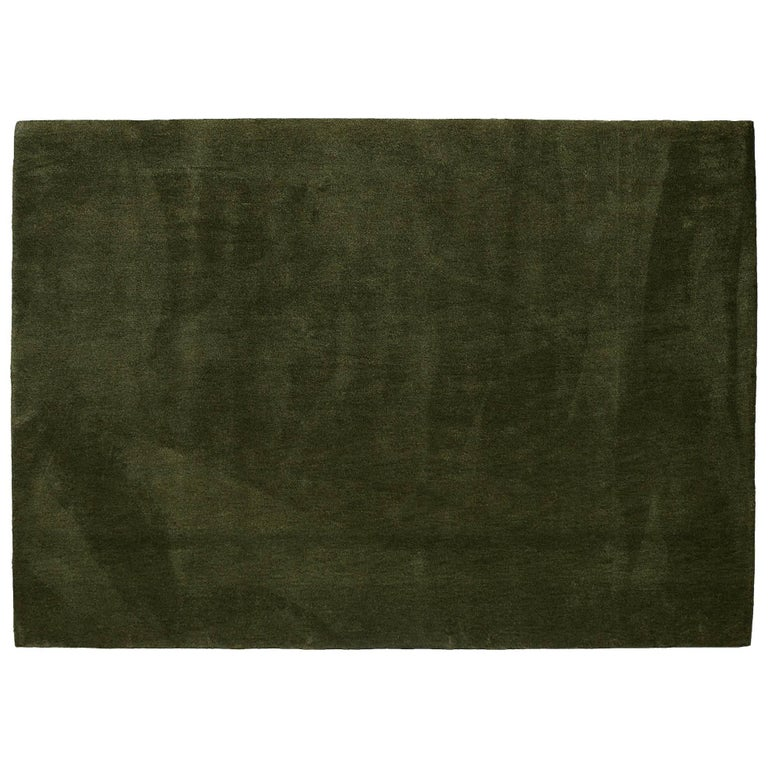 'Vert Pinton' Hand-Tufted Area Rug in Olive Green by Pinton For Sale