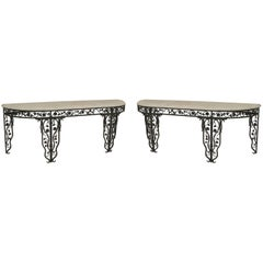 Pair of French Art Moderne '1940s' Console Tables