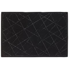 'Magellan Noir' Hand-Tufted Area Rug in Black by Nicolas Aubagnac & Pinton