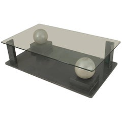 French Post-War Design, 1950s Geometric Base Coffee Table